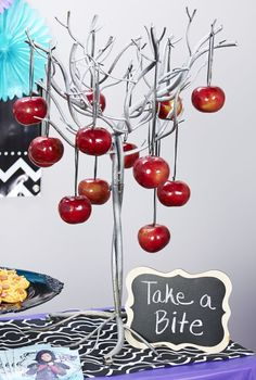 If the guests dare to take an apple at the party they're going to get (