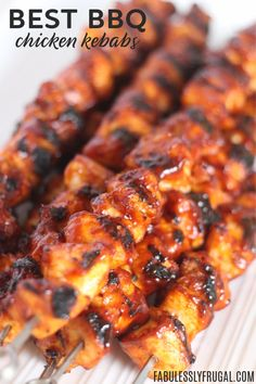 This really is the best BBQ Chicken Kebabs recipe! There are a few easy extra st… This really is the best BBQ Chicken Kebabs recipe! There are a few easy extra steps that really add a depth of flavor that… Continue Reading → Best Chicken Recipes, Grilled Chicken Recipes, Recipe Chicken, Shish Kebab, Barbecue Chicken, Chicken Kebab, Chicken Shish Kabobs Marinade, Bbq Meat, Chicken Bbq Sauce