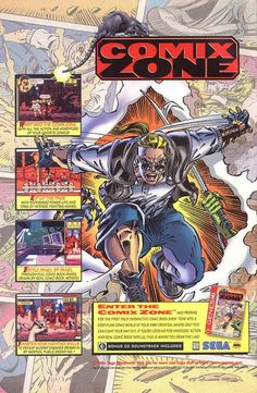 Comix Zone.  My favorite video game as a kid growing up!