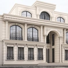 Building Facade New House Facade Design Balconies Ideas Reducing Energy Costs Future natural gas Classic House Exterior, Classic House Design, House Front Design, Dream House Exterior, Modern House Design, Villa Design, Facade Design, Exterior Design, Neoclassical Architecture