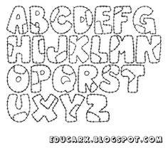 Modelo de letras educacao infantil