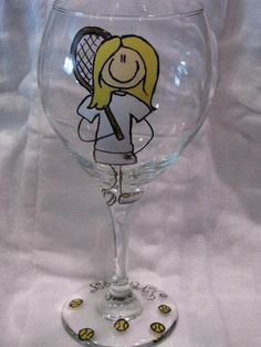 Tennis Wine Glass