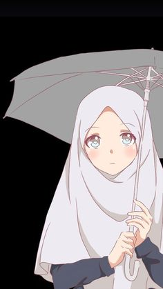 Muslim Pictures, Islamic Pictures, Anime Korea, Hijab Drawing, Islamic Cartoon, Hijab Cartoon, Islamic Girl, Cute Chibi, Anime Eyes