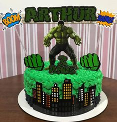 Cooking Time, Food Porn, Birthday Cake, Desserts, Hulk Cakes, Hulk Party, Balloon Decorations Party, Power Strip, Creative Cakes