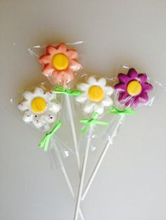 Spring Daisy Easter Basket Lollipop Chocolate by CandKSweetShoppe, $1.20