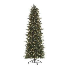 Home Decorators Collection, 7.5 ft. Pre-Lit Slim Aspen Fir Artificial Christmas Tree with Clear Lights, 5473410610 at The Home Depot - Tablet