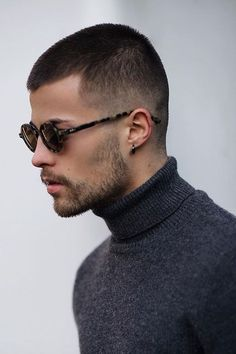 8 Ways How To Style Short Hair: Step-By-Step Tutorials Military Buzz Cut Very Short Hair Men, Short Hair Cuts, Short Hair Style Men, Short Men, Man Short Hairstyle, Short Hair And Beard, Updo Hairstyle, Style Hair, Trendy Haircuts
