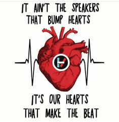 Holding on to You  -  Twenty One Pilots  -  It ain't the speakers that bump hearts it's our hearts that make the beat. I-/