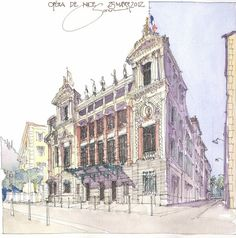 Jochen Schittkowski_watercolor paintings_city-art__urban sketch_акварель_город