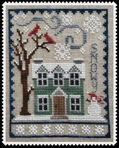 Winter House Trio Digital Pattern For Cross Stitch Cute And Quick To Stitch Houses In A Wintery Setting Part Of Ongoing Trio Series Winter House Trio Digital Pattern For Cross Stitch Cute And Etsy Cross Stitch House, Cross Stitch Samplers, Cross Stitch Kits, Cross Stitch Charts, Cross Stitch Designs, Cross Stitching, Cross Stitch Embroidery, Embroidery Patterns, Hand Embroidery