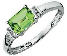 Image result for Wedding ring estate east west gemstone peridot