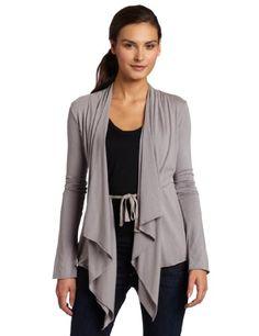 Bobi Women's Ruched Front Drape Cardigan Sweater  Industry  LargeFrom #Bobi List Price: $66.00Price: $41.14