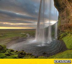 The Seljalandsfoss Waterfall In Iceland