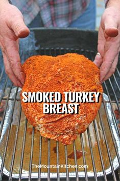With very little effort required, this pecan applewood smoked turkey breast is rubbed with a simple poultry seasoning, smoked over a pan of cranberry infused water for a moist smoking environment, with smoky coals, pecan wood chunks, and wet applewood chips. Tender, juicy turkey like no other! #turkey #turkeybreast #smoker #bbq #woodsmoke #recipe Smoker Grill Recipes, Smoker Cooking, Grilling Recipes, Smoker Turkey Recipes, Food Smoker, Traeger Recipes, Grilling Tips, Bbq Grill, Smoked Meat Recipes