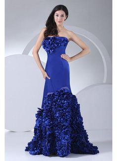 Amazing Style Strapless Mermaid Satin Royal Blue 2013 Prom Dresses£129.19