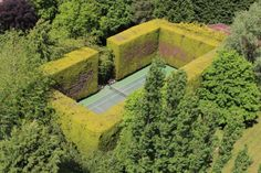 stunning tennis court in the country