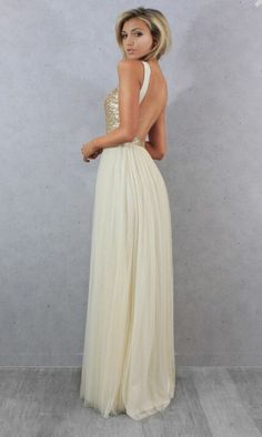 Charmming Chiffon with Top Sequin Bridesmaid Dress back