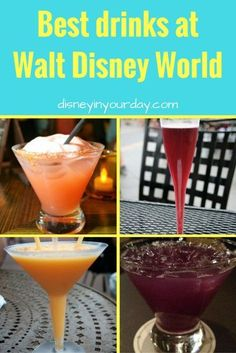 Best drinks at Walt Disney World - Disney has a number of delicious alcoholic beverages for adults - here are some of the favorites from around the parks and resorts!
