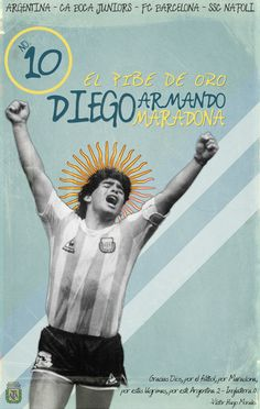 Maradona 'Vintage Poster' by GoblinFish