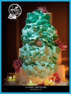 Wedding Cake Design by Elegant Temptations. Photo Credit: In Focus Studios