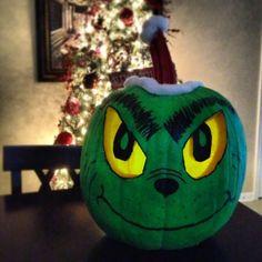 Grinch pumpkin :)   school ideas   Pinterest   Grinch