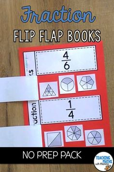 Fraction Flip Flap Books will engage your class while learning and identifying fractions. Fun cut and paste! Including 21 pages of flip flap worksheets and fraction picture sets. Covering basic fractions, harder fractions and equivalent fractions. NO PREP PACK - perfect activity for differentiation | Grade 2 | Second Grade | Grade 3 | Third Grade Grade 6 Math, Grade 2, Fourth Grade, Second Grade, Sixth Grade, Teaching Fractions, Teaching Math, Math Fractions, Math Measurement