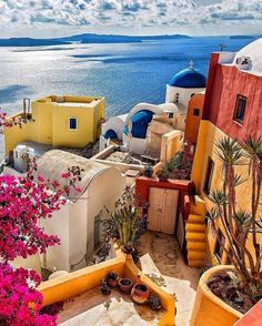 In Santorini, Greece.