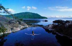 Relaxing in a natural pool in Gwaii Haanas, British Columbia, Canada. http://yhoo.it/1sOZxyI
