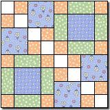 Four Squares 2 (used this block to make Calebs baby quilt-splendid result)