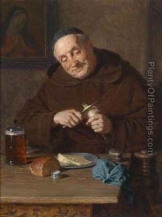 Meal Time Oil Painting - Eduard Von Grutzner