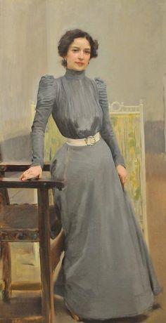 Retrato de su bellísima esposa. Joaquín Sorolla.
