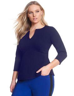 Empire Flare Top   Women's Plus Size Tops   ELOQUII