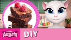 Talking Angela's DIY - Chocolate Brownies  xo, Talking Angela #video #YouTube #TalkingAngela #LittleKitties #MyTalkingAngela #chocolate #brownies #cake #baking #cute #recipe