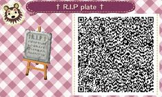 town-of-spectres: ~ R.I.P tombstone pattern ~ I... - Animal Crossing New Leaf