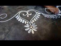 How to draw a beautiful door alpona design / mukesh arts Rangoli Border Designs, Rangoli Designs Diwali, Rangoli Designs Images, Beautiful Rangoli Designs, Kolam Rangoli, Rangoli With Dots, Simple Rangoli, Simple Flower Design, Simple Designs