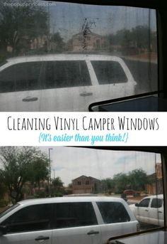 Cleaning { Protecting} Your Vinyl Camper Windows. Get those vinyl windows on your pop up trailer crystal clear again.