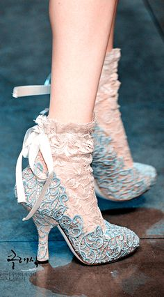 lace heels/boots