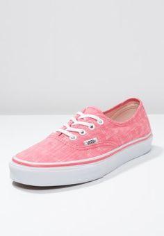 Vans AUTHENTIC - Sneakers - coral/true white - Zalando.se