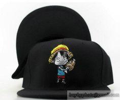 One Piece #Snapback Hats Flat Hat Adjustable Caps Monkey #D.Luffy Hats モンキー.D.ルフィ27