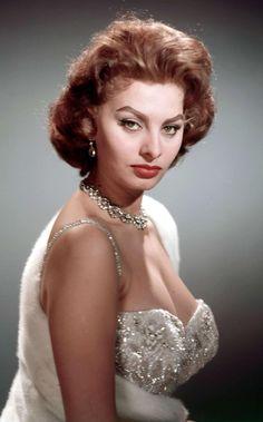 Sophia Loren by Sam Levin Golden Age Of Hollywood, Vintage Hollywood, Hollywood Glamour, Hollywood Stars, Carlo Ponti, Classic Beauty, Timeless Beauty, Loren Sofia, Sophia Loren Images