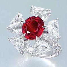 Edmond Chin ruby and diamond ring. Image: Courtesy of Christie's
