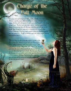 from wicca gatherings, charge of the full moon Wiccan Art, Wicca Witchcraft, Wiccan Crafts, Moon Magic, Magic Spells, Moon Spells, Book Of Shadows, Full Moon, Tarot
