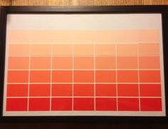 Paint chip calendar #tutorial