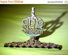 SALE Menorah Hanukkah hanukiachanukahjewish by VintageAnd4All