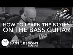 How to Learn the Notes on the Bass Guitar (L - Online Bass Lessons Learn Guitar Online, Learn Bass Guitar, Acoustic Bass Guitar, Bass Ukulele, Learn To Play Guitar, Guitar Chords, Bass Guitars, Fender Acoustic, Basic Guitar Lessons