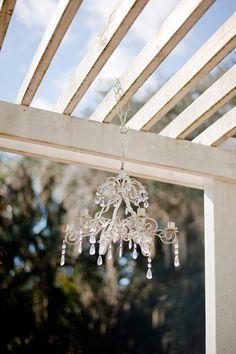 #chandeliers in pergulas #vintage #wedding  Photo by RJ Stills  www.rjstills.com  chandelier from www.save-on-crafts.com