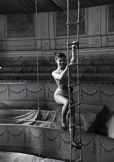 beautiful mid-century circus aerialist