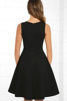 Hello World Black Midi Dress 4