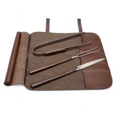 Laguiole en Aubrac #BBQ Set with Leather Case