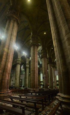 Interior of Duomo di Milano on All Hallows  #architecture #interior #duomo #milano #hallows #photography